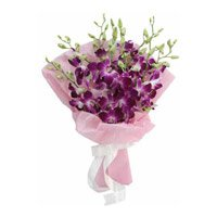 Get Well Soon Flowers to India : Orchids in Crepe Packing