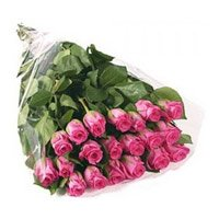Pink Roses Bouquet 24 Flowers India. Online Flowers to India