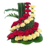Flower Delivery in India - Mix Carnation Basket