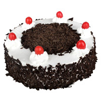 Send 500 gm Eggless Black Forest Cake to India