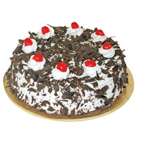 Karwa Chauth Eggless Black Forest Cake to India