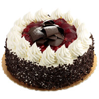 1 Kg Black Forest Cake From 5 Star Hotel. Deliver Rakhi and Cake in India