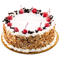 Send 2 Kg Black Forest Cake with Rakhi Delivery in India From 5 Star Hotel