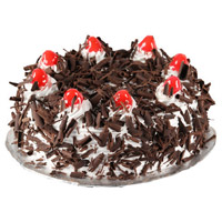 Order Online Rakhi with 3 Kg Black Forest Cakes to India From 5 Star Hotel