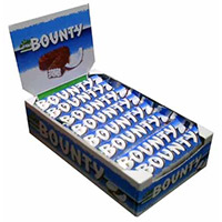Chocolate Delivery in India with 24 Pcs Bounty Chocolates. Diwali Gifts in India