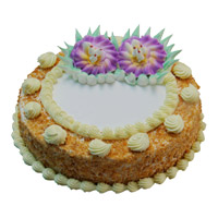 Best Cakes in India to send 500 gm Eggless Butter Scotch Cake