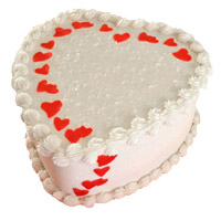 Send 2 Kg Heart Shape Butter Scotch Cake Delivery to India