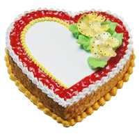 Order 3 Kg Heart Shape Butter Scotch Cake to India