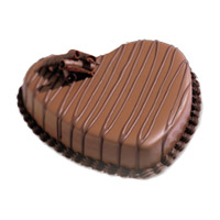3 Kg Heart Shape Chocolate Cake Delivery to India
