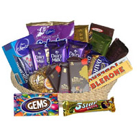 Special Gifts to India comprising Basket of Exotic Chocolate to India
