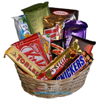 Basket Assorted Chocolates in Udupi. Diwali Gifts to Udupi