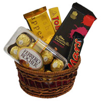 Send Ferrero Rocher Chocolates to India and Bournville with Mars and Temptation, Toblerone Chocolate Basket