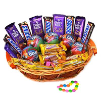 Online Gifts Delivery to India. Cadbury Snicker Chocolate Basket. Send Chocolates