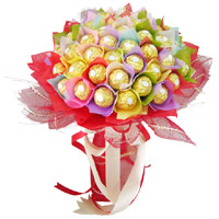 Send Father's Day Gifts to India Same Day Delivery. 48 Pcs Ferrero Rocher Bouquet of Chocolates to India