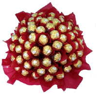 Bouquet of 56 Pcs of Ferrero Rocher chocolates in India on Father's Day
