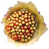 Father's Day Chocolates Delivery in India. Send 64 Pcs Ferrero Rocher Bouquet of Chocolate in India