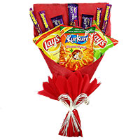 Send Gifts to India. 16 Pcs Ferrero Rocher Chocolate to India with Twin 6 Inch Teddy Bouquet