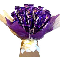 Send Father's Day Gifts to India. Send Dairy Milk Father's Day Chocolates Bouquet 24 Chocolates in Vizag