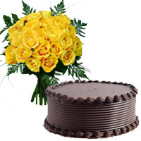 Yellow Roses and Chocolate Cakes to India
