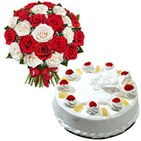 Mix Roses and Pineapple Cakes to India
