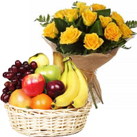 Fruits and Flowers to India