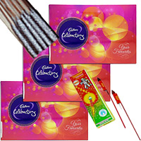 Diwali Gifts in India Cpmprising 3 Celebrations Pack with 1 Box of Rocket and 1 Box of Sparkle