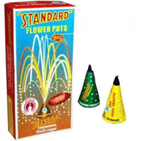 2 Boxes of Flowers Pot(Anaar) Contains 10 Pcs in each Box.Diwali Gifts to India.