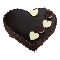 Buy 2 Kg Heart Shape Chocolate Truffle Cake to India