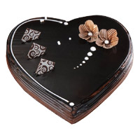 Send 3 Kg Heart Shape Chocolate Truffle Cake to India