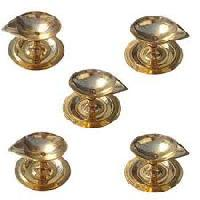 Diwali Gifts to India Same Day with Set of 5 Diya in Brass