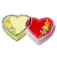 Online Delivery of 3 Kg Double Heart Butter Scotch Strawberry 2-in-1 Cake in India