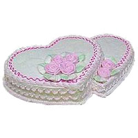 Send Online 2 Kg Double Heart Shape Cake (Mention Your Flavour) to India
