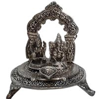 Send Diwali Gifts to India consist of Lakshmi Ganesh Diya Temple in Aluminium