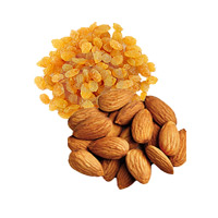 Online Gifts Delivery in India and 250gm Raisins and 250gm Almonds