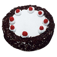 Send 1 Kg Eggless Black Forest Cake to India from 5 Star Bakery