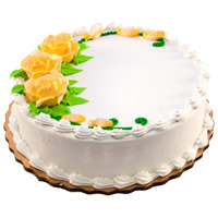 1 Kg Eggless Vanilla Cake to India From 5 Star Bakery