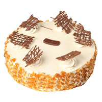 1 Kg Eggless Butter Scotch Cake to India From 5 Star Bakery