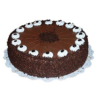 Send 1 Kg Eggless Chocolate Cake to India From 5 Star Bakery