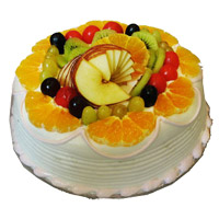 1 Kg Eggless Fruit Cake to India From 5 Star Bakery