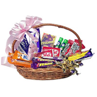 Place Order for Diwali Gifts to India containing Basket of Indian Assorted Chocolate in India