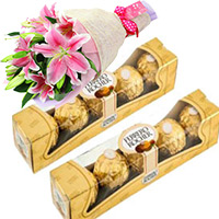 Diwali Gifts Delivery to India. Send 10 Pieces Ferrero Rocher Chocolates to India Online