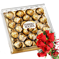 Send Diwali Gifts to Hyderabad. 24 Pieces Ferrero Rocher Diwali Chocolates to India