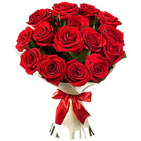 Send Red Roses Bouquet 12 Flowers to India. Mother's Day Flowers to India