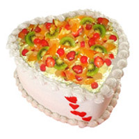 Deliver 1 Kg Heart Shape Fruit Cake to India