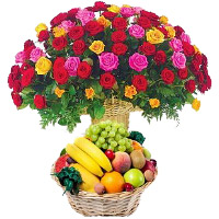 Order New Year Fresh Fruits Basket as Gifts in India