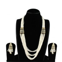 Long White Pearl Necklaces
