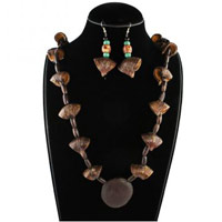 Handcrafted Dry Palash Flowers Necklace