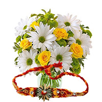 Rakhi Flowers to India