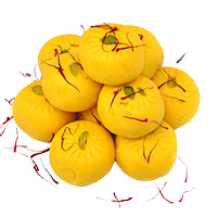 Send Birthday Gifts to India of 1 kg Kesar Peda Sweets India