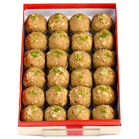 Same Day Birthday Gifts Delivery to India. 1 kg Atta Laddoo